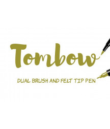 TOMBOW - ABT-076 Green Ochre Dual Brush Pen