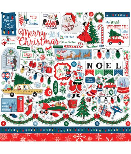 "CARTA BELLA - Merry Christmas - Cardstock Stickers 12""X12""-Elements"