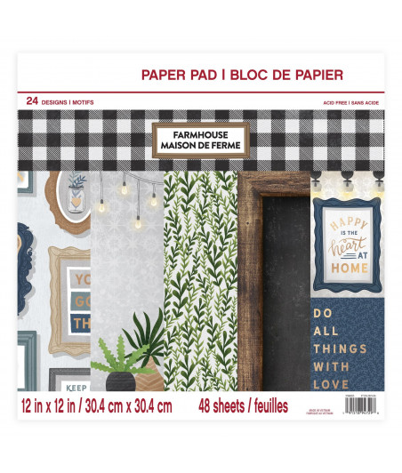 CRAFT SMITH - Farmhouse 12x12 Inch Paper Pad