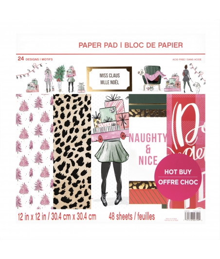 CRAFT SMITH - Miss Claus 12x12 Inch Paper Pad