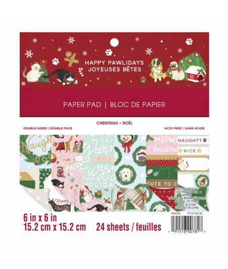 CRAFT SMITH - Happy Pawlidays - 6x6 inch paper pad