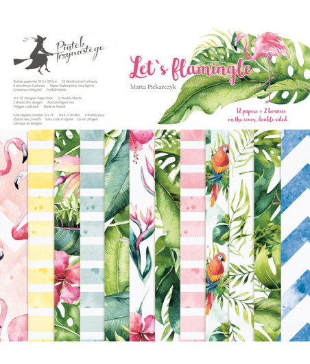 PIATEK - Let's flamingle - 12x12  Pad Collection Kit