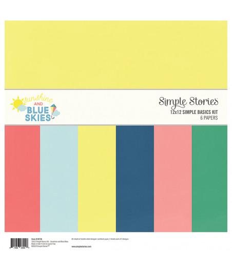 """SIMPLE STORIES - Sunshine & blu Skies - Simple Basics Kit 12""""x12"""""""