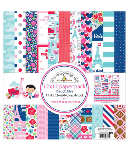 DOODLEBUG - French Kiss - 30x30 Inch Paper Pad