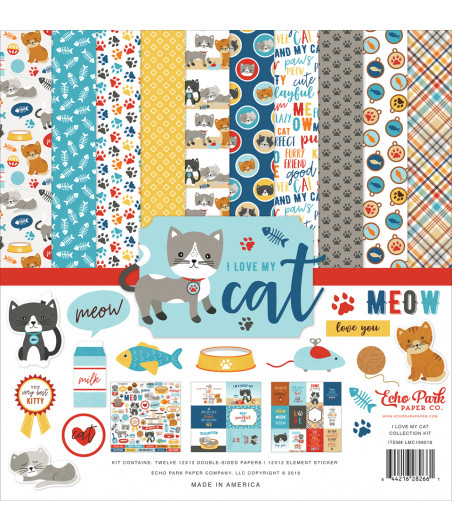 ECHO PARK - I Love My Cat - 12x12 Inch Collection Kit