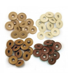 WE R MEMORY KEEPERS - Wide Eyelets -  Brown