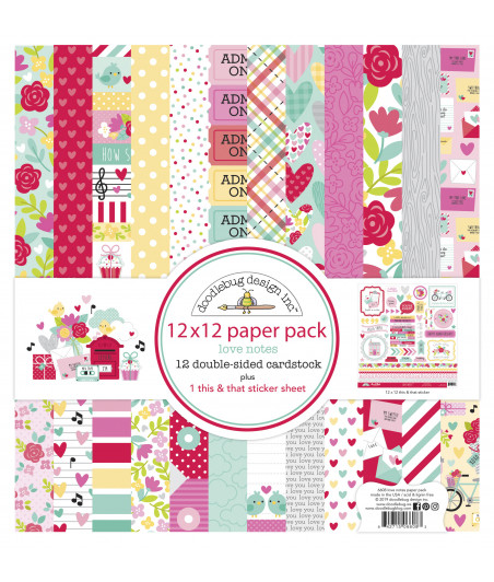 DOODLEBUG - Love Notes - 30x30 Inch Paper Pad