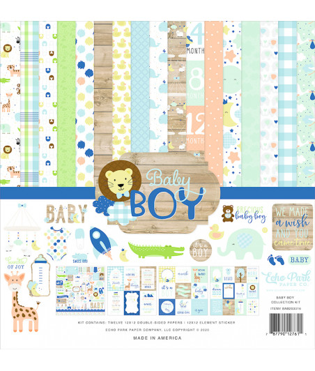 ECHO PARK - Baby Boy - 12x12 Inch Collection Kit