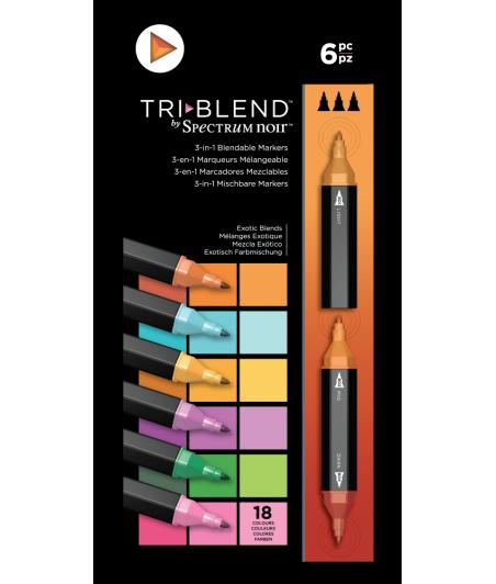 SPECTRUM NOIR - TriBlend Markers Exotic Blends (6pcs)