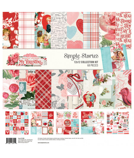 """SIMPLE STORIES - My Valentine - Collection Kit 12""""x12"""""""