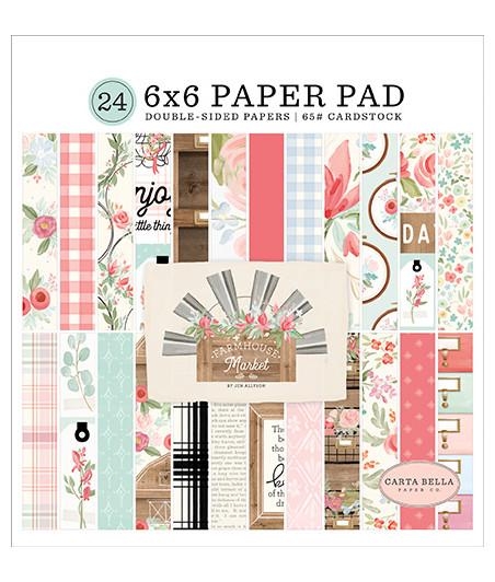 CARTA BELLA - Farmhouse Market - 6x6 Inch Paper Pad