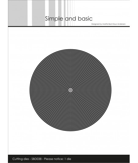 SIMPLE AND BASIC - Thin Frames Circle Die
