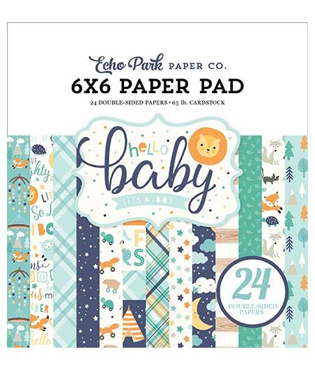 ECHO PARK - Hello Baby Boy - 6x6 Inch Paper Pad