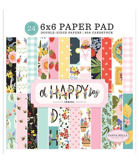 CARTA BELLA - Oh Happy Day - 6x6 Inch Paper Pad