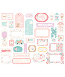ECHO PARK -  Hello Baby Girl - Frames & Tags