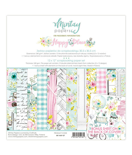MINTAY BY KAROLA -  Happy Place - 12x12  Pad Collection Kit