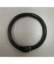 anello singolo nero 2,5 cm