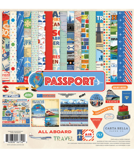 CARTA BELLA - Passport - Collection Kit 12X12
