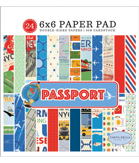 CARTA BELLA - Passport - 6x6 Inch Paper Pad