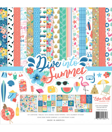 ECHO PARK - Dive Into Summer - 12x12  Pad Collection Kit