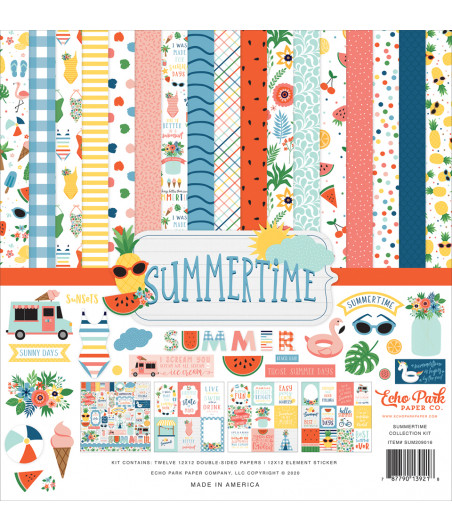 ECHO PARK - Summertime - 12x12  Pad Collection Kit