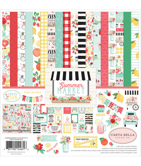 CARTA BELLA - Summer Market - Collection Kit 12X12