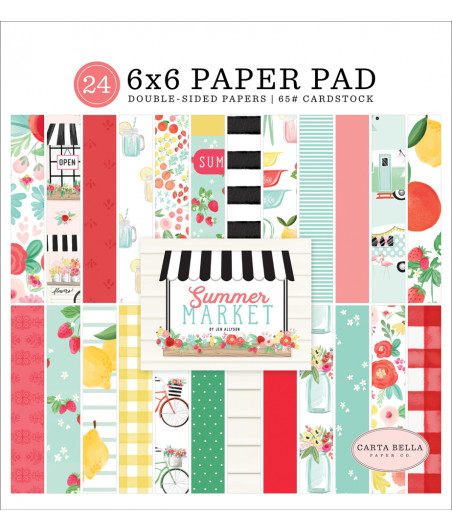 CARTA BELLA - Summer Market - 6x6 Inch Paper Pad