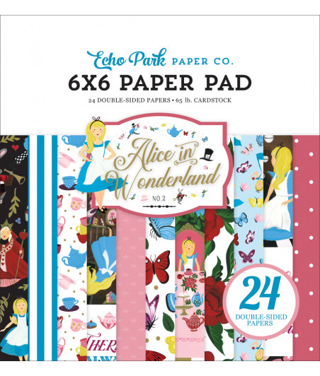ECHO PARK - Alice In Wonderland No. 2  6x6 Inch Paper Pad