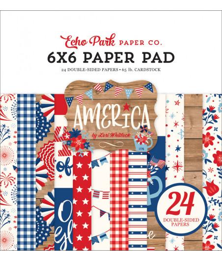 ECHO PARK - America 6x6 Inch Paper Pad