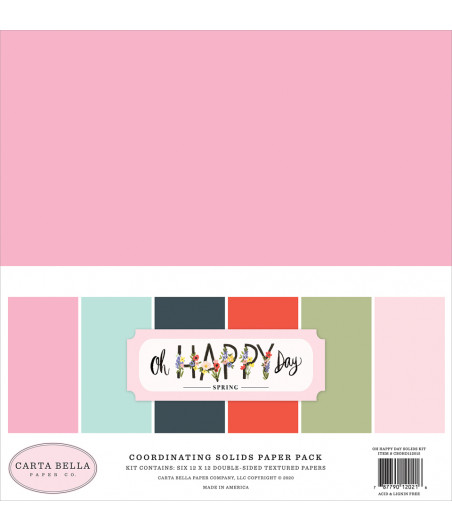 CARTA BELLA - Oh Happy Day - Solids Kit 12X12