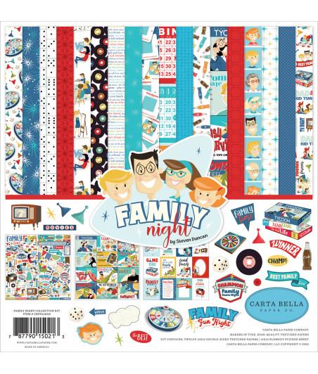 CARTA BELLA - Family Nigh - Collection Kit 12X12