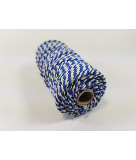 CRAFTEMOTIONS - Twine 2 mm x 43 m  - blue white