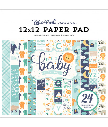 ECHO PARK - Hello Baby Boy - 12x12  Pad Collection