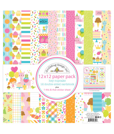 DOODLEBUG - Hey Cupcake - 30x30 Inch Paper Pad
