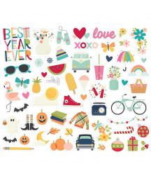 SIMPLE STORIES - Best Year Ever - Bits & Pieces