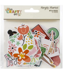 SIMPLE STORIES - Hey, Crafty Girl! - Bits & Pieces
