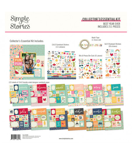"""SIMPLE STORIES - Best Year Ever Collector's Essentials Kit -12""""x12"""""""