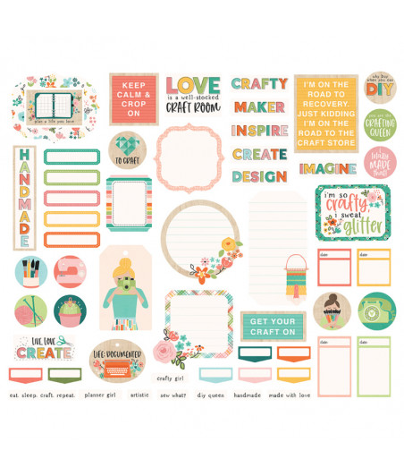 SIMPLE STORIES - Hey, Crafty Girl! Journal - Bits & Pieces