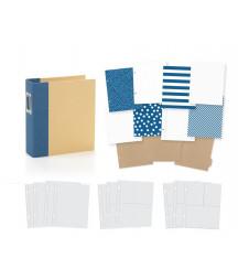 SIMPLE STORIES - Album 6x8 - Snap! - Binder Navy