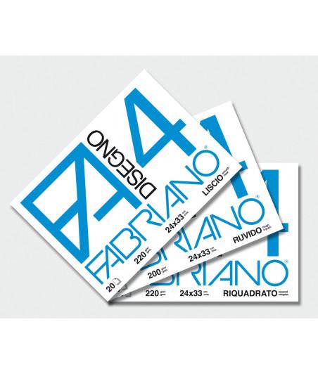 FABRIANO - Blocco disegno F4 24X33cm Liscio 20 fogli - 220gr