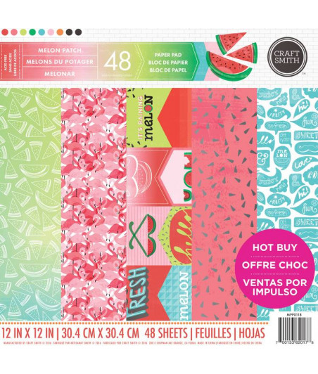 CRAFT SMITH - Melon Patch 12x12 Inch Paper Pad