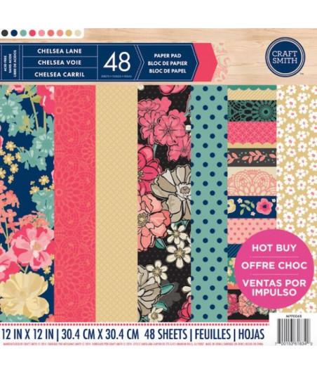 CRAFT SMITH - Chelsea Lane 12x12 Inch Paper Pad