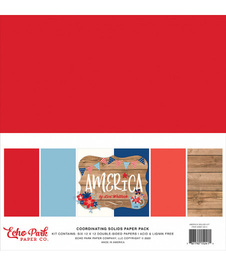 ECHO PARK - Coordinating Solids - 12x12  Pad Collection Kit