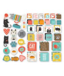 SIMPLE STORIES - Cat SN@P! Insta-Squares & Pieces