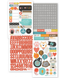 SIMPLE STORIES -  Cat SN@P! Stickers