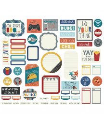 SIMPLE STORIES -  Bro & Co Journal Bits & Pieces