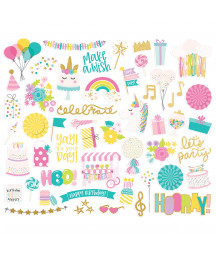 SIMPLE STORIES -  Magical Birthday Journal - Bits & Pieces