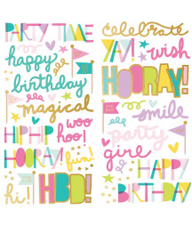 SIMPLE STORIES - Magical Birthday Foam Stickers - 6x12