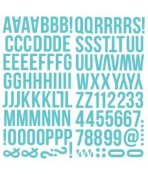 SIMPLE STORIES - Color Vibe Foam Alphas Foam Stickers - 6x12