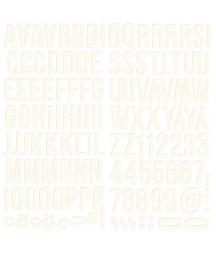 SIMPLE STORIES - Color White Foam Alphas Foam Stickers - 6x12